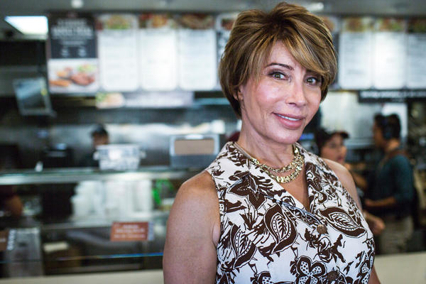 "Michaela Mendelsohn is a transgender activist, public speaker and businesswoman. ""The word's just gotten out that I'm a trans owner supporting trans people,"" she says at one of six El Pollo Loco locations she owns."