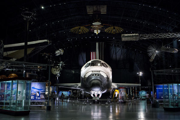 Space Shuttle Discovery on display at the Udvar-Hazy Center in Chantilly, Va.