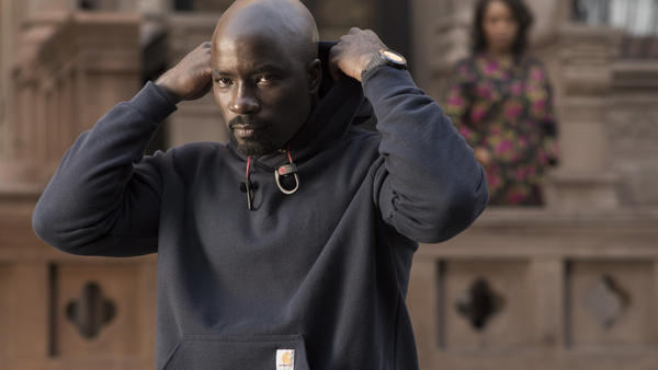 """""""It's a difficult subject,"""" says <em>Luke Cage </em>actor Mike Colter, """"but I felt like what we're doing with the show is saying there can be some heroes in hoodies.""""<em></em>"""