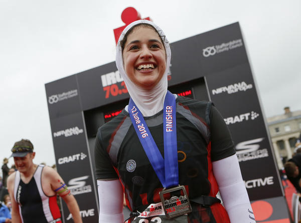 In June, Shirin Gerami completed a half Ironman triathlon in Staffordshire, England. This weekend, she'll race in the world championship in Hawaii.