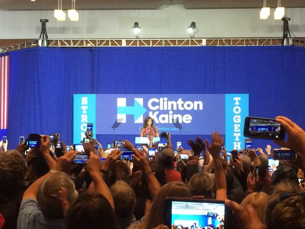 Michelle Obama campaigns in Charlotte for Hillary Clinton