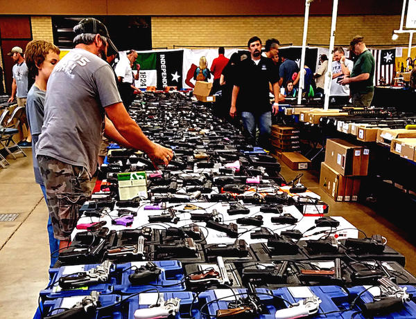 A gun show in Fort Worth, October 2014.