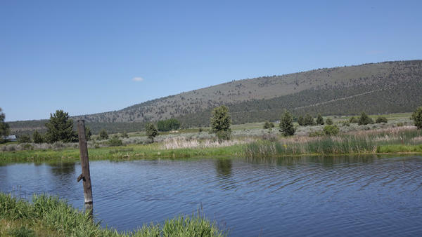 <p>An agricultural valley near Klamath Falls. The drastic elevation change exemplified in the distance is necessary for pumped storage hydroelectricity projects.</p>