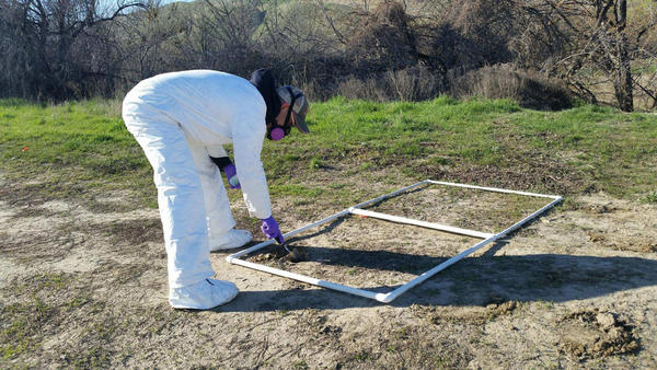 File photo. Washington State Department of Health workers tested soils  for Valley Fever near the Tri-Cities in southeast Washington earlier this year.