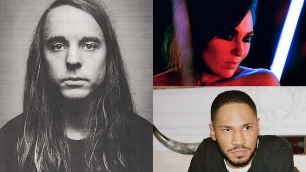 Andy Shauf by Geoff Fitzgerald (left), Tanya Tagaq by Katrin Naleid (right top), Kaytranada by Liam McCrae (right bottom)