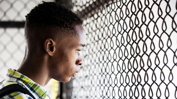 Ashton Sanders in <em>Moonlight</em>, a film directed by Barry Jenkins.