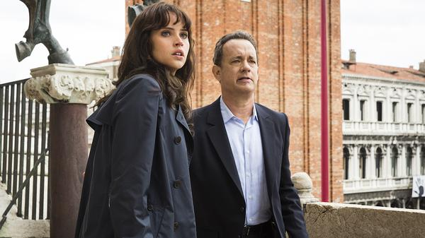 Tom Hanks and Felicity Jones star in <em>Inferno,</em> a film based on the book by Dan Brown, author of <em>The Da Vinci Code.</em>