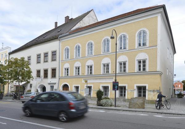Adolf Hitler's birth house in Braunau am Inn, Austria.