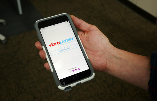 The Voto Latino app looks to expand voter registration efforts, but the app's creators say its hamstrung by state laws, which don't allow for online registration.