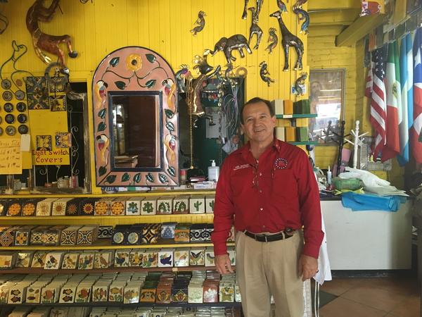 Mike Melendez is a Republican candidate for county supervisor. He sells Mexican crafts and rented out the rest of his store to the Arizona Republican Party.