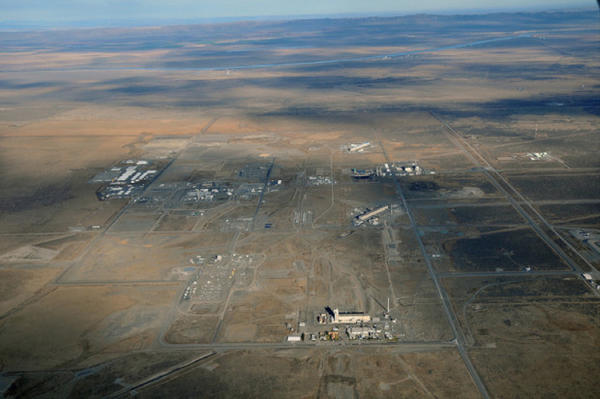 <p>An aerial view of the Central Plateau at the Hanford Nuclear Reservation.</p>