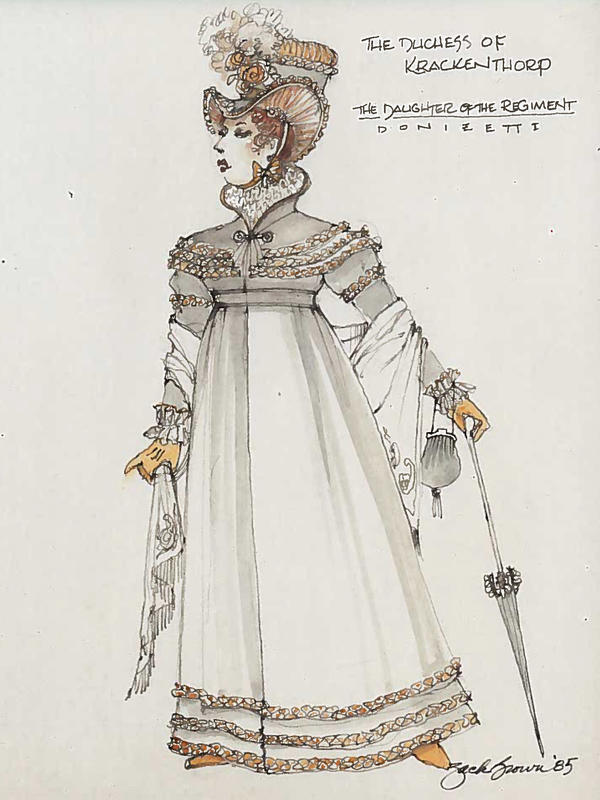 A sketch of the costume Justice Ginsburg will wear.