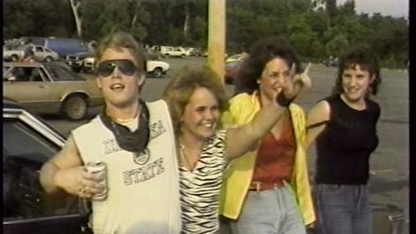 <em>Heavy Metal Parking Lot</em>'s concept is simple: a snapshot of eager fans tailgating outside a 1986 Judas Priest and Dokken concert in a Maryland suburb.