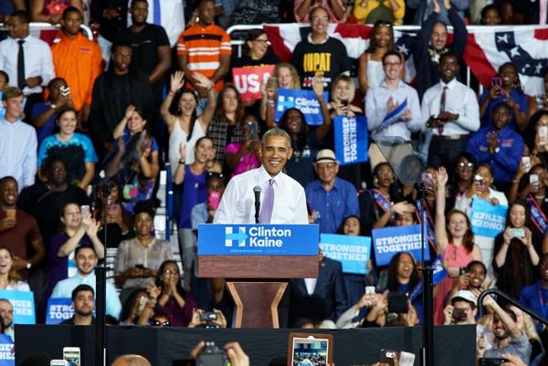 """President Obama said this is probably his last visit to South Florida as president. """"But I will come back and it will be more fun,"""" he said."""