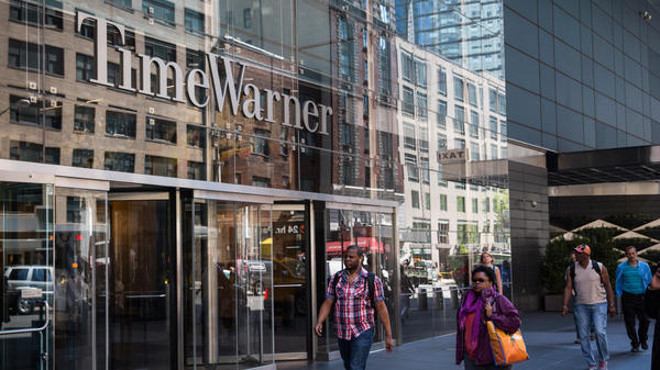 Time Warner is heading for another merger — this time with AT&T, in a deal that was announced Saturday. Here, the company's headquarters at New York City's Columbus Circle.
