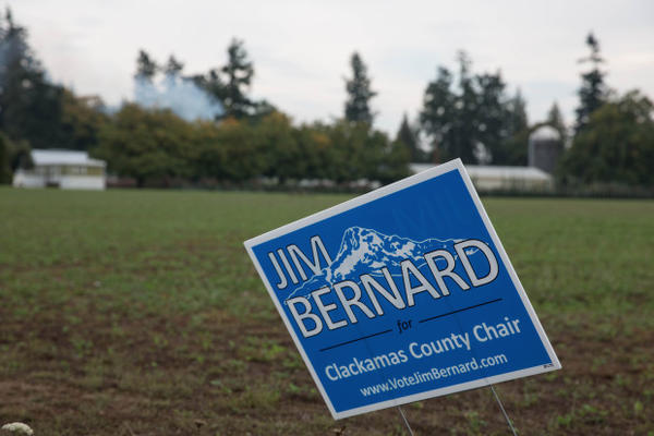 <p>Clackamas County commissioner Jim Bernard is campaigning for county chair against incumbent John Ludlow.</p>