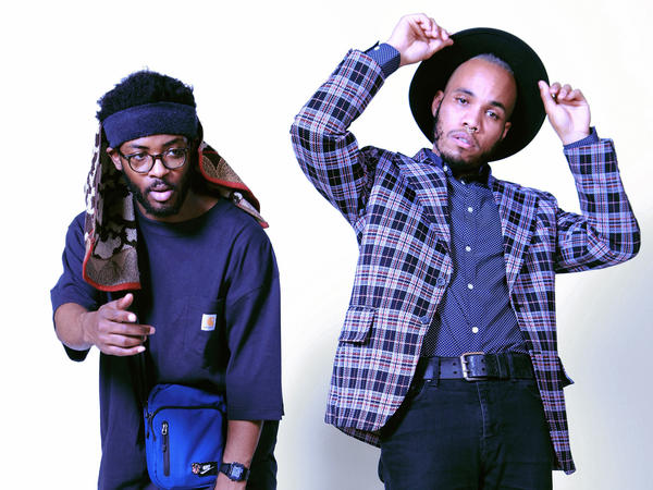 Knxwledge (left) and Anderson .Paak collaborate as NxWorries. Their debut album is <em>Yes Lawd!</em>