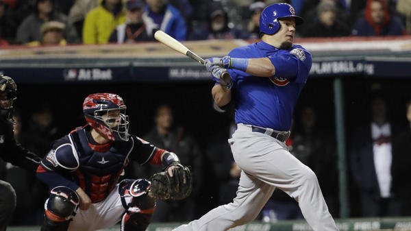 The Chicago Cubs' Kyle Schwarber is back from a major injury just in time for a big hitting performance in the World Series against the Cleveland Indians.
