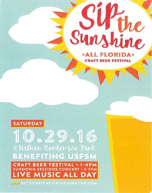Sip the Sunshine takes place Saturday, Oct. 29.