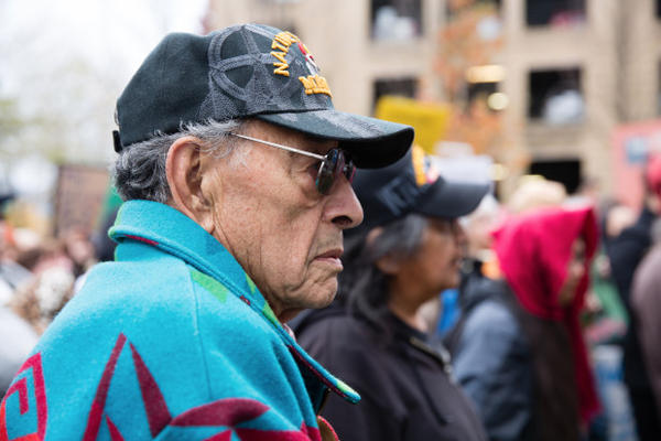 <p>Portland resident John Nelson is Oglala Sioux from Pine Ridge South Dakota.The chair of the Standing Rock tribal council, Dave Archambault II, is Nelson's grandson. </p><p> </p>