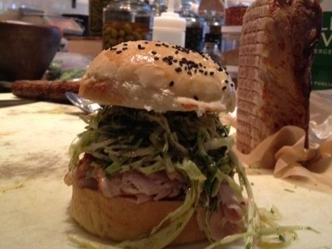 Matt Jennings' pork loin sandwich.