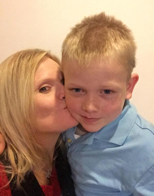 Jaren Hansen, here with his mother, Nicole Hansen, has had seizures since he was 2.