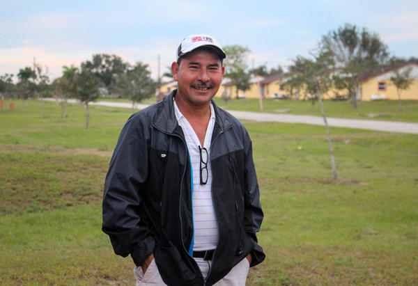 Esteban Gonzalez has spent most of each year, for the past eight years, as a guest worker in Florida. His family remains back home in Veracruz, Mexico.