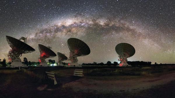 CSIRO's Australia Telescope Compact Array at the Paul Wild Observatory.