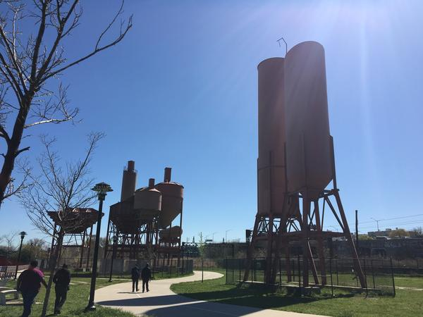 Concrete Plant Park, built alongside the Bronx River, gets little use because it's difficult to reach, thanks in part to the Sheridan Expressway.