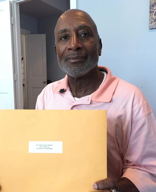 Robert McNeil, 62, has been out of prison since 2008 and says he plans to vote for the first time in his life this November.