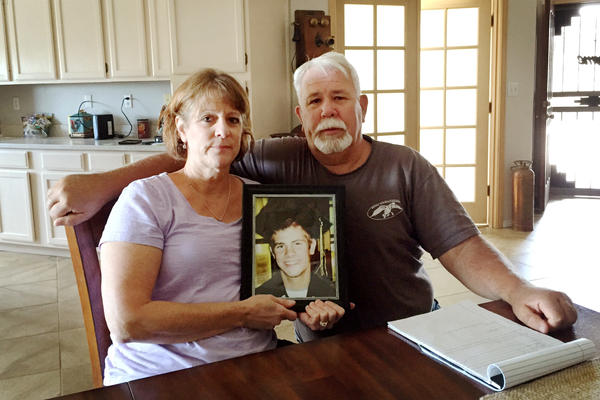 Jill and Glenn Martin's son Joey died of an opioid overdose while living in a group home. He was 22.