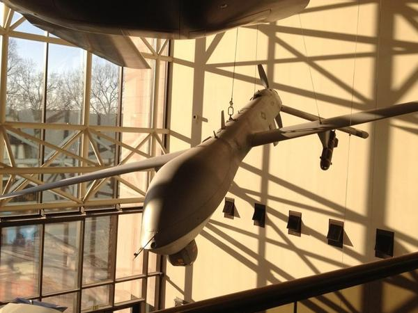 The first predator drone with tail number 3034 now hangs in the Smithsonian Air and Space Museum.