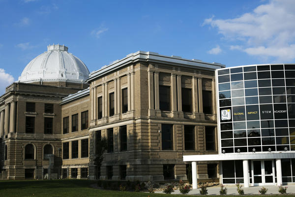The Global Impact STEM Academy in Springfield, Ohio. The original high school building was modeled after the Library of Congress.