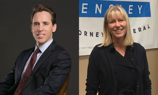 Republican Josh Hawley and Democrat Teresa Hensley are running for Missouri Attorney General.