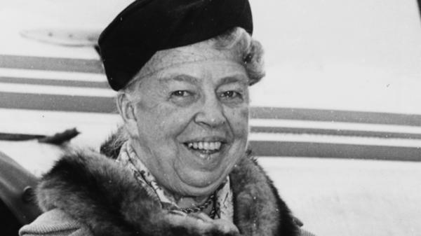 Eleanor Roosevelt, shown here in London in 1959, continued to work on behalf of progressive causes after her tenure as First Lady ended.