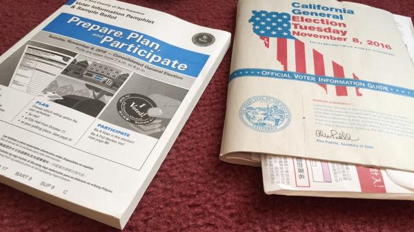 The City and County of San Francisco's voter information pamphlet explains its 25 local measures and the official state of California voter information guide explains its 17 state ballot measures.