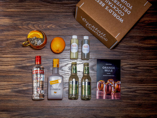 As meal kits gain market share, craft cocktail subscription boxes have followed. Each service has a different take on the model. Some, like Cocktail Courier, deliver mini bottles of alcohol — just enough to make the featured recipe, like the ingredients for an Orange Mule (above).