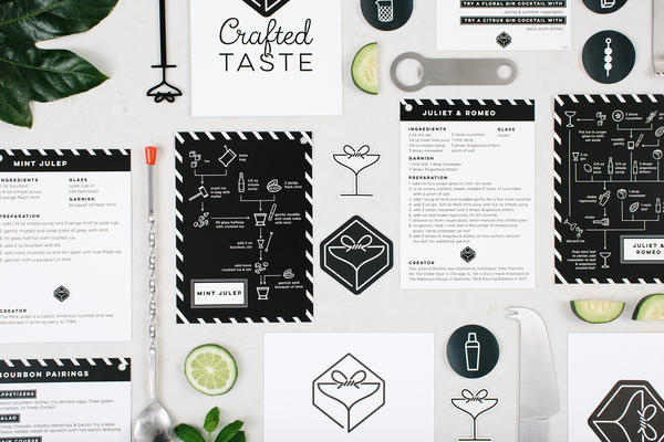 """""""We're not just sending a bunch of ingredients and a recipe,"""" explains founder and CEO of Crafted Taste, Kat Rudberg. """"We want our subscribers to get a cocktail education.""""To that end, its kits feature recipes for drinks ranging from classic to creative and information on bartending techniques."""