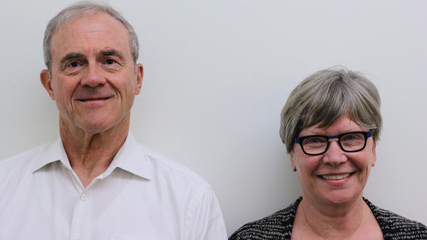 Hartmut Lau and his wife, Barbara, on a recent visit with StoryCorps in Austin, Texas.