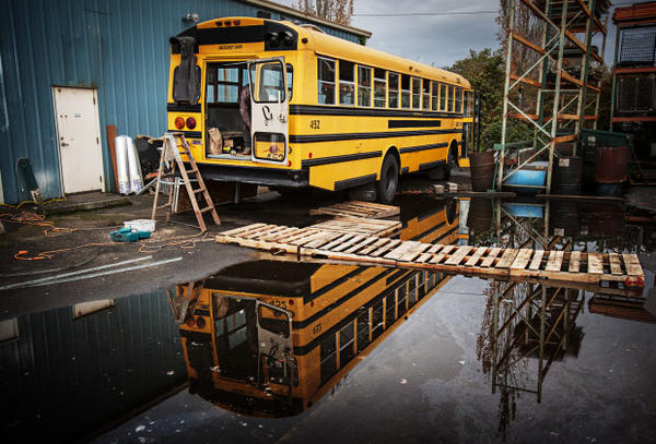 <p>Portland climate activists purchased an old bus on Craigslist for $4,500 and turned it into a shelter for Standing Rock protesters.</p>