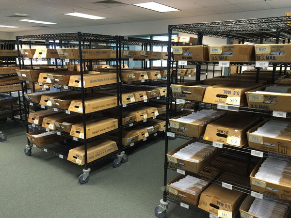File photo of returned ballots at the Marion County Elections office in late October.