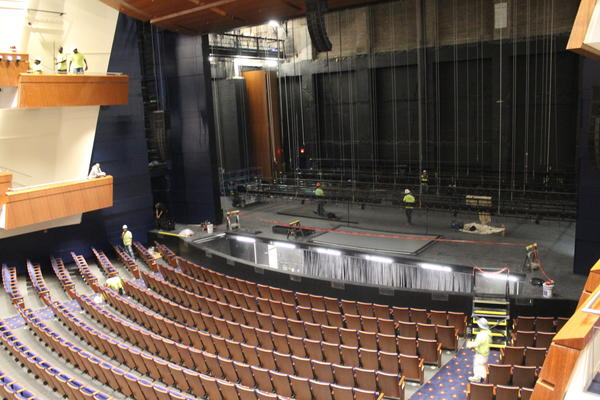 The new stage and seats inside Robinson Center.