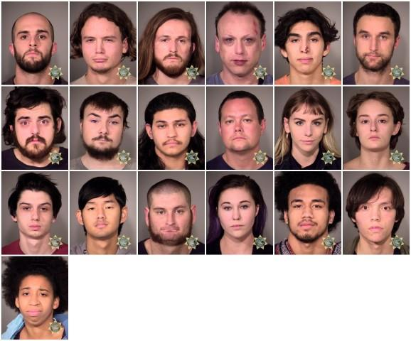 <p>Portland police detained 26 people during protests on Nov. 10, 2016, in Portland. Twenty-five of them were arrested.</p>