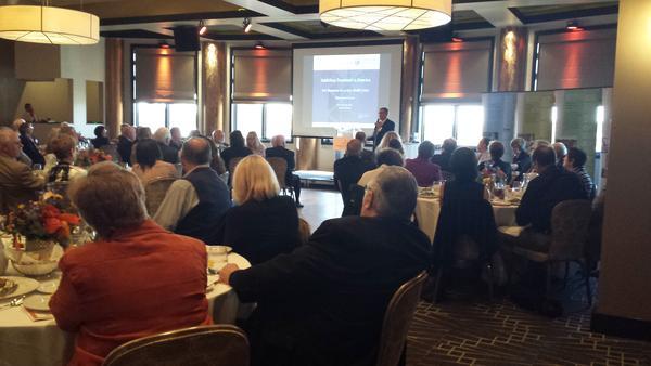 Marvin Ventrell speaks at the Rosecrance Forum on Nov. 10, 2016