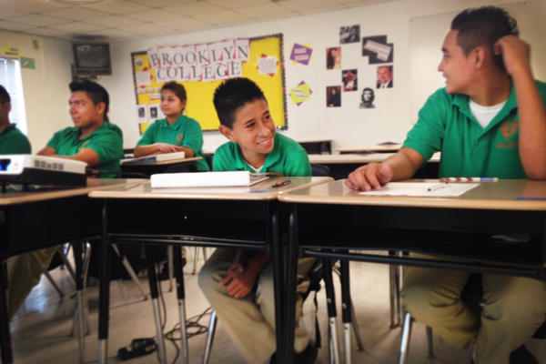 Yashua Cantillano, 14, arrived in New Orleans in June, 2014, from Tegucigalpa, Honduras, and enrolled in a charter school, Carver Prep.