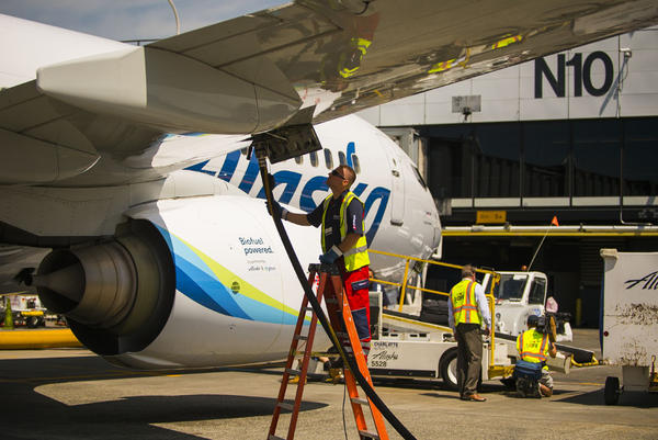 In June, Alaska Airlines fueled two demonstration flights using jet fuel blended with a biofuel made from fermented corn. Monday's test flight uses wood-based fuel.