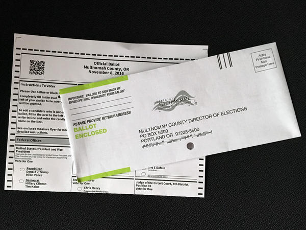 About 42 percent of people who were automatically registered to vote in Oregon this year returned their ballot ahead of last week's election.
