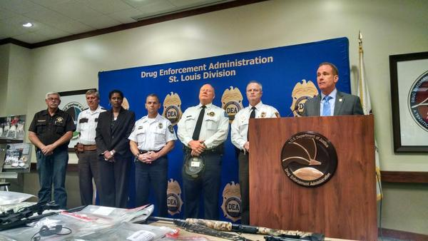 DEA Special Agenit in-Charge James Shroba announces the bust