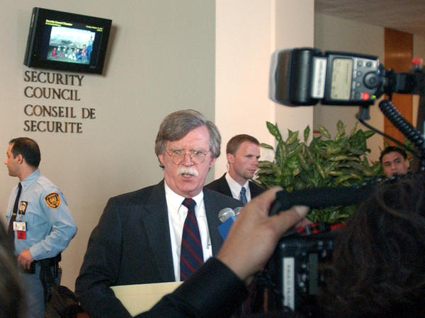 U.S. Ambassador to the United Nations John Bolton, shown here at the U.N. in 2006, served as George W. Bush's U.N. ambassador and undersecretary for arms control and international security.