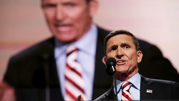 Retired Army Lt. Gen. Michael Flynn spoke at the Republican National Convention in Cleveland in August in support of Donald Trump.